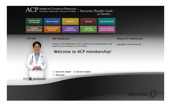 American College of Physicians - Mobile-compatible Website