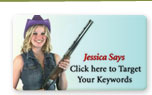 "Jessica Says ""Click here to target your keywords."""